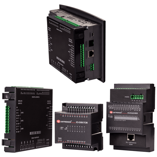 Vision series- Programmable controllers with HMI- Unitronics